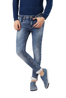 Killer Dark Blue Solid Mid Rise Skinny Fit Jeans