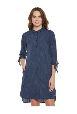 Tom Tailor Navy Striped Above Knee Dress