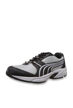 Puma Typhoon Light Grey & Black Running Shoes