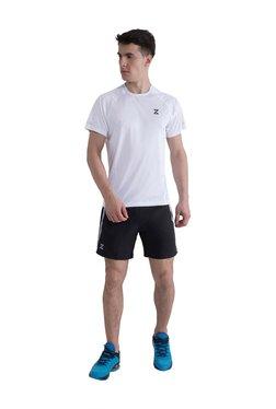 Azani White Round Neck Regular Fit T-Shirt