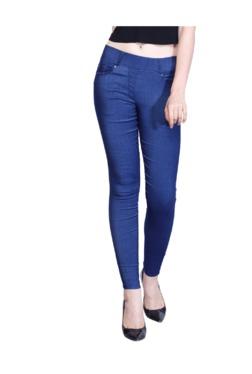 Westwood Blue Denim Lycra Skinny Fit Jeggings - Mp000000003430766