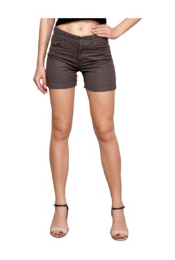 Westwood Brown Striped Cotton Shorts