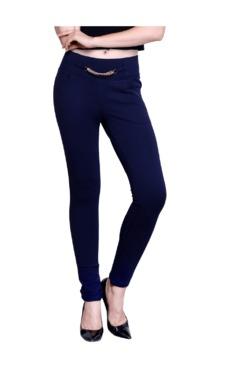 Westwood Blue Cotton Lycra Skinny Fit Jeggings