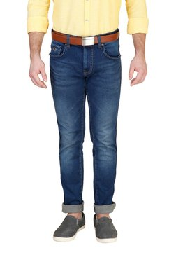 Lawman Blue Lightly Washed Regular Fit Cotton Jeans