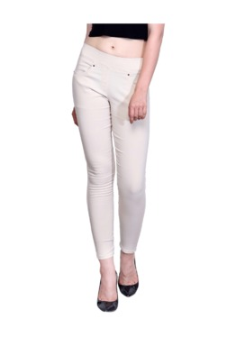 Westwood Fawn Cotton Lycra Skinny Fit Jeggings