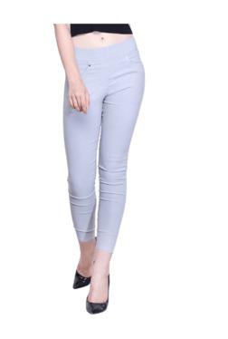 Westwood Grey Cotton Lycra Skinny Fit Jeggings