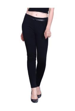 Westwood Black Cotton Lycra Skinny Fit Jeggings - Mp000000003429520