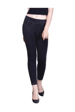 Westwood Black Cotton Lycra Skinny Fit Jeggings