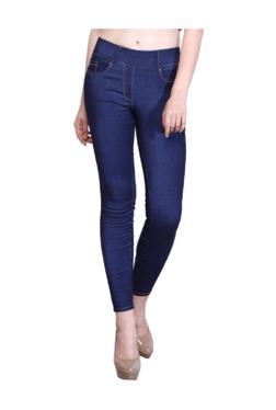 Westwood Blue Denim Lycra Skinny Fit Jeggings