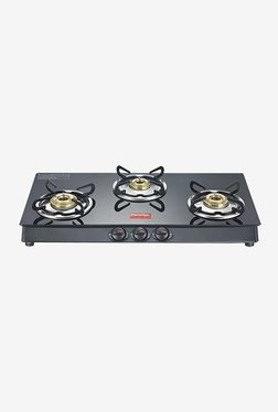 Prestige 40180 Marvel Plus 3 Burners Gas Stove (Black)