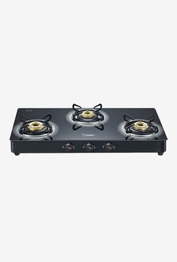 Prestige 40177 Royale Plus 3 Burners Gas Stove (Black)
