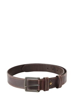 Allen Solly Brown Solid Leather Narrow Belt - Mp000000003432112