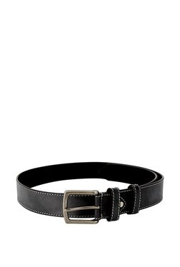Allen Solly Black Solid Leather Narrow Belt