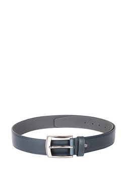 Peter England Navy Solid Leather Narrow Belt