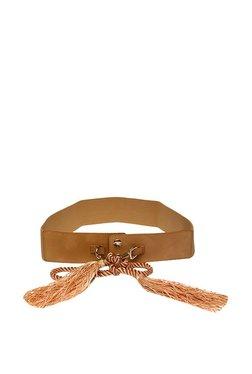 Van Heusen Brown Tassel Leather Narrow Belt
