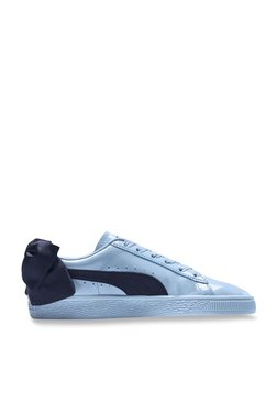 ac75729e136 Puma Basket Bow Patent Jr Blue Sneakers for girls in India - Buy at ...
