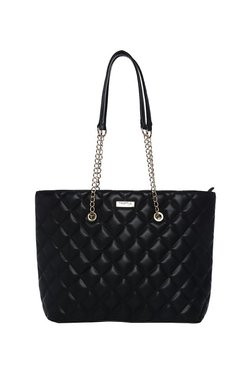 Truffle Collection Black Quilted Shoulder Bag