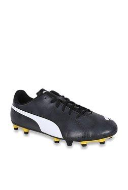 8e3e91aea7af54 Puma Rapido FG Black Football Shoes
