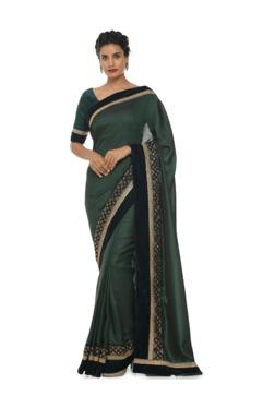 Soch Dark Green Embroidered Art Silk Saree With Blouse - Mp000000003440489