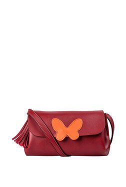 St.Holii By Holii Absolem 03 Red Applique Flap Sling Bag