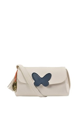 St.Holii By Holii Absolem 03 White Applique Flap Sling Bag
