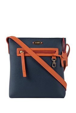 St.Holii By Holii Hazel 03 Navy & Tan Solid Sling Bag