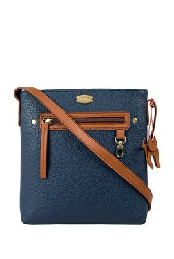 St.Holii By Holii Hazel 03 Tan & Navy Solid Sling Bag