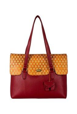 St.Holii By Holii Ivy 03 Red & Tan Embossed Shoulder Bag