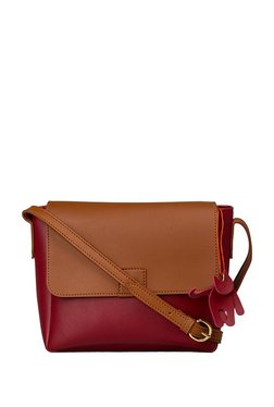 St.Holii By Holii Wintercress 02 Maroon Solid Flap Sling Bag