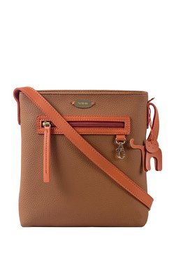 St.Holii By Holii Hazel 03 Brown & Tan Solid Sling Bag