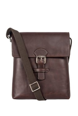 St.Holii By Holii Saguaro 02 Brown Solid Flap Sling Bag