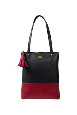 7304fb21fe50 St.Holii by Holii Sundew 02 Black   Red Color Block Tote