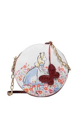 Holii Disney Alice 03 White & Red Floral Leather Sling Bag