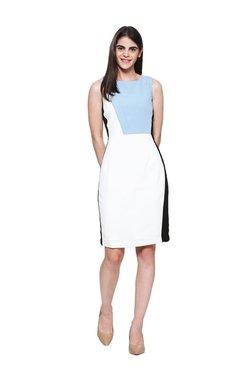 Van Heusen White Knee Length Dress