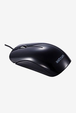 Astrum MU200 Wired Optical Mouse (Black)