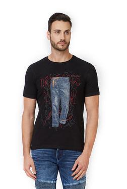 Killer Black Printed Slim Fit T-Shirt d83bb99d7