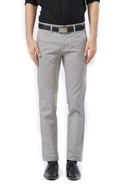Killer Charcoal Slim Fit Flat Front Trousers