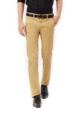 Killer Khaki Slim Fit Flat Front Trousers