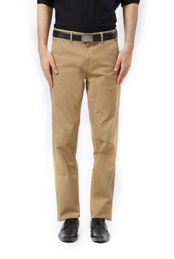 Killer Khaki Slim Fit Cotton Solid Trousers