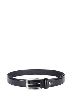Van Heusen Black Solid Leather Narrow Belt - Mp000000003471679