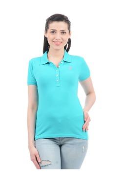 Aeropostale Aqua Regular Fit Polo T-Shirt