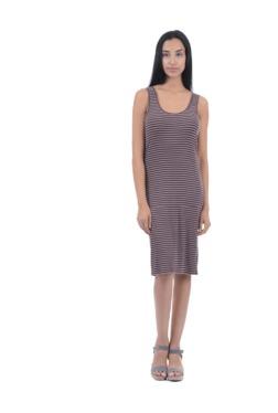Aeropostale Pink Striped Knee Length Dress