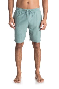 Quiksilver Green Cotton Mid Rise Shorts