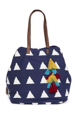 1d9b00d27400 Westside Navy Tasseled Handbag
