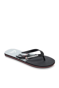 4ae958a9c Quiksilver Molokaicarrillo Black   Grey Flip Flops