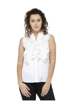 Oxolloxo White Ruffle Top - Mp000000003478296
