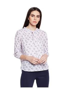 Oxolloxo Pink Printed Cotton Top