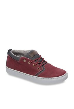 Quiksilver Griffin Red & Grey Sneakers