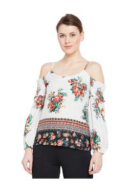Oxolloxo Multicolor Floral Print Cotton Top