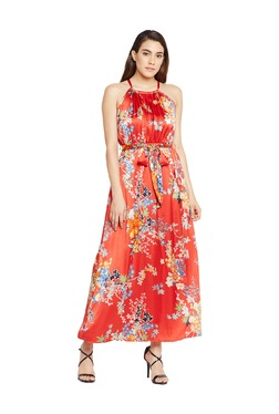 Oxolloxo Red Floral Print Maxi Dress